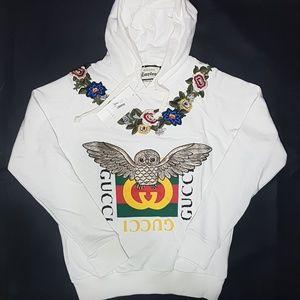 sweatshirt hoodie white gucci